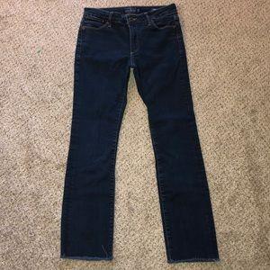 Lucky Brand Hayden Straight Jeans Raw Hem size 2